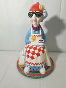 Vintage Hallmark Cards Maxine Cookie Jar Hand Painted J Wagner 14 Inches Tall