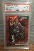 2018 Panini Prizm Red Ice Trae Young Rookie Card Rc 78 Psa 10 Gem Mint Low Pop