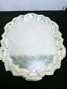 Sheffield Silver Plated Oval Serving Tray. 14 By 11 Inches. Weights 1 Pound 7 Oz