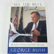 George H.w. Bush Sr. Signed Book Certified Autograph All The Best Hardcover
