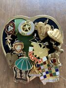 Large Lot Of Organizational Pins On A Heart...elks Yr Pin Etc