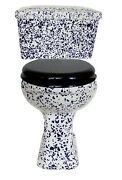 Trtc Blue Speckle Close Coupled Lever Cistern Toilet New