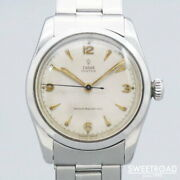Tudor Oyster Ref.7904 Rose Powder Dial 17 Jewels Manual Winding 1950s Watch