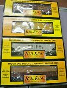 New Train 4 Lot Sale Rail King By Mth O And 0-27 Union Pacific Cars Fast Ship