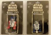 2x Star Wars Droid Factory Lot Disney Parks Mickey Ears Hat Robot Ftw And R2d2-146