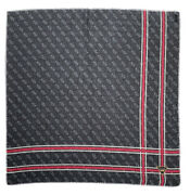 Guess Black Scarf Wool Blend Monogrammed 46/46 Excellent Condition