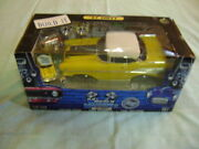 Muscle Machines Build It 57 Chevy Yellow  71195 1/18 And 1/64 Scale New