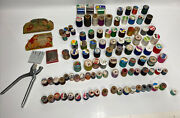 Lot Of 103 Vintage Spools Of Thread Some Wooden 2 Needle Books And More Read ⬇️