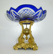 Centerpiece Table Centerpiece About 1820 Russia Crystal Glass Flashing Bronze