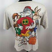 Vintage 1990s Loony Tunes T-shirt Front And Back Graphic Bugs Bunny Taz Cayote Xl