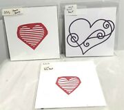 Simon Says Stamp Swirl Heart Light Ray Vent Valentines Day Sss Dies Lot Of 3