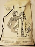 New Vintage Daisy Kingdom Europa Jacket Pattern, 2.25 Yds Quilt Fabric And Notions