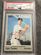 2019 Topps Heritage Kyle Tucker Rc Auto Real One Auto Red Ink /70 Psa 10 Gem