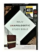 Thomas Nelson Nkjv Unapologetic Bible 2017 Red/tan Leather Soft Indexed