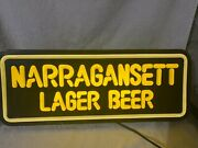 Rare 1980's Narragansett Lager Beer Faux Neon Plastic Sign Rhode Island Ale