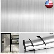 Livelynine 15.8x394 Inch Brushed Nickel Wallpaper Peel And Stick Countertop