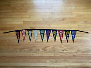 Vintage Ivy League College Pennant String Harvard Yale Columbia Brown Cornell