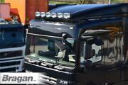Roof Bar + Leds + Spots + Beacons + Air Horns For Daf Xf 95 Space Truck - Black