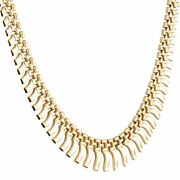 9carat Yellow Gold 16 Cleopatra Style Necklace 5-15mm Wide