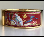 Auth Hermes Clic Clac Enamel Lot Of Two 2 Bracelet And Bangle Pearls Euc