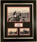 Brian Fletcher Hand Signed Framed Photo Display Red Rum Grand National 2.