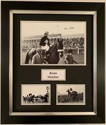 Brian Fletcher Hand Signed Framed Photo Display Red Rum Grand National 1.