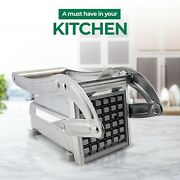 Stainless Steel French Fry Cutter Potato Vegetable Slicer Chopper 2 Blades