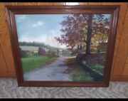 Isabelle Shields Oil Painting 24x30 Rural Greensburg 2004 With Frame