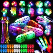78pcs Led Light Up Toy Party Favors Glow In The Dark,party Supplies Bulk For Adu