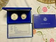 1986 Liberty Silver Proof Coin Set 1 And Half Box And Cert