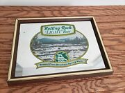 Rolling Rock Light Beer Mirror Sign Latrobe Pa Brewed From Mountain Spring Water
