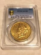 1872 Au58 Pcgs 20 Liberty Double Eagle Gold Coin Nice Almost Ms Tough Date