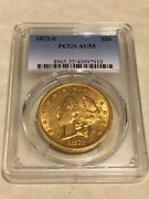 1872-s Au55 Pcgs 20 Liberty Double Eagle Gold Coin Great Appeal Pq
