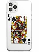 Playing Card Design Queen Of Spades Slim Case