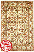 Hand Knotted Area Rugs Indian Handmade Classic Wool Golden New Carpet 9x12 Ft