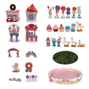 Sweet Fairy Garden Candy Carnival Collection Complete Set 29 Pieces Plus Moss