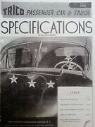 1931-1946 Trico Wiper Motors And Parts Illustrated 1946 Catalog Windshield Wipers