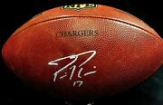 Philip Rivers Sd Chargers Game Used Authentic Nfl Duke Football Comes Jsa Loa