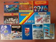 Lot Of 11 Vintage Matchbox Collectorand039s Catalog From 1971-1992