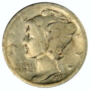 1921-d Mercury Dime Full Date And Mint Mark Good Priced Right Inv2