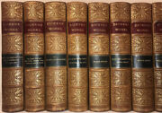 Leather Set Works Of Charles Dickens Victorian Original Complete Rare Gift