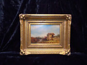 Dr. Edward Ruggles American 1817-1867 Old Irish Mill Oil On Paper