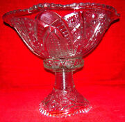 American Brilliant Crystal Antique Centerpiece Vintage Early 1900and039s