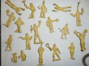 Old Marx 1950s Rubber, 50mm Super Circus, Assorted Circus Performers,