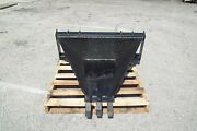 43 Hd Skid Steer Stump Bucket, Saw Teeth ,made In The Usa, Fits All Brands, New