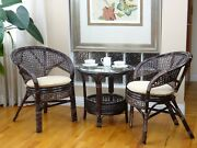 Pelangi Rattan Wicker Lounge Set Of 2 Chairs And Coffee Table 3 Colors