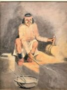 Antique Frank Reed Whiteside Watercolor Painting Framed Native American Male