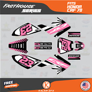 Graphics Kit For Honda Crf70 All Years Crf 70 Crf-70 Fh- Pink Black
