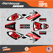 Graphics Kit For Honda Crf70 All Years Crf 70 Crf-70 Fh- Red Black