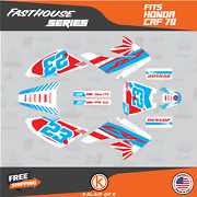 Graphics Kit For Honda Crf70 All Years Crf 70 Crf-70 Fh- White Red Cyan